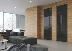 Obkladový systém Efekta Wooden Walls, Divider, Doors, Wall Panelling, Furniture, Home Decor, Wood Walls, Slab Doors, Wall Cladding