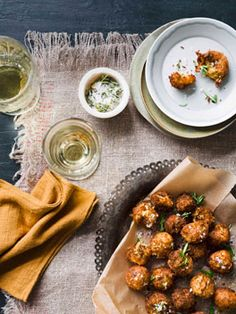 Cauliflower fritters with Chardonnay Recipe / ALICE STOREY PHOTOGRAPHY BEN DEARNLEY STYLING GERALDINE MUNOZ