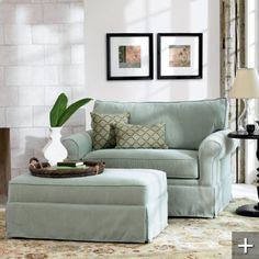 Sleeper chair - cushy recliner that hides a twin bed. Perfect for a reading nook in my office/guest bedroom.