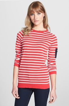 Barbour 'Lowther' Stripe Crewneck Sweater | Nordstrom
