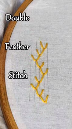 Learn how to make double feather stitch in #embroidery #handembroidery