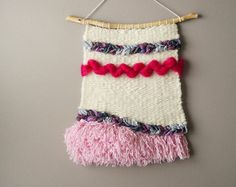 Woven Wall Hanging Wool Tapestry Bohemian Wall by LemonCucullu