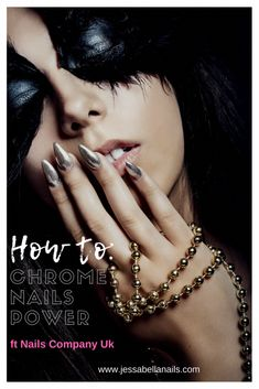 How to: Chrome Powder Nails ft Nails company UK Chrome Nail Powder, Chrome Nails, Powder Nails, Nail Polish Colors, Gel Polish, Blue Nails, My Nails, Beauty Lounge, Nail Designs Spring