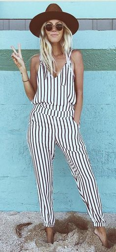 Who Was Looking For Stripped Jumpsuit