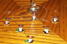 6pc Penguin Wine Charm Set by CraftsbyMaryLou on Etsy, $8.99