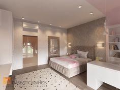 Фото: Интерьер детской для девочки - Интерьер квартиры в стиле минимализм, ЖК «Классика», 130 кв.м.