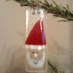 Santa - fused glass christmas decoration