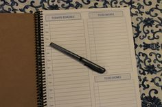 Daily To Do List Notebook by OrganizedLiving on Etsy