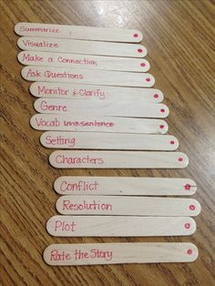 Comprehension strategy sticks---pull one or all for any story.