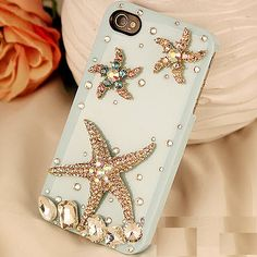 Alloy Bling Ocean Star Handmade Case for iPhone DIY Phone Shell Deco Den Kits | eBay