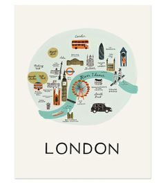 London Print:for the places i've gone wall