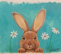 "155 Likes, 9 Comments - Angela Anderson (@thankfulart) on Instagram: ""Spring Bunny Acrylic Painting Tutorial on YouTube by Angela Anderson #rabbit #spring #angelafineart…"""