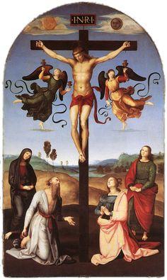 Raffaello - Crocefissione Gavari  o Pala Città di Castello - 1502-03 - Olio su tavola - National Gallery, Londra