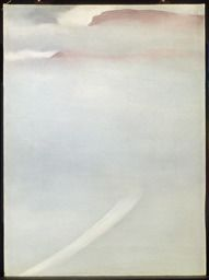 Georgia O'Keeffe / Road - Mesa with Mist / 1961 / oil on canvas