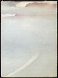 Georgia O'Keeffe / Road - Mesa with Mist / 1961 / oil on canvas