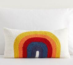 Justina Blakeney Astronomad Rainbow Hook And Loop Lumbar Pillow