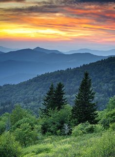 Blue Ridge Parkway, North Carolina, Great Smoky Mountains National Park; photo by Dave Allen