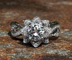 Awesome 300+ Flower Rose Diamond Engagement Ring Inspirations Check more at http://lucky-bella.com/300-flower-rose-diamond-engagement-ring-inspirations/