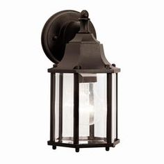 PortfolioChesapeake 10-1/4-in Tannery Bronze Outdoor Wall Light. $30.25.  Item #: 469670| Model #: 36694. MaterialDie-cast aluminum Color/Finish FamilyBronze. Glass ColorClear Glass StyleBeveled. Fixture Height (Inches)10.25 Fixture Width (Inches)5.5 Fixture Depth (Inches)6.25. Number of Bulbs Required1.0.