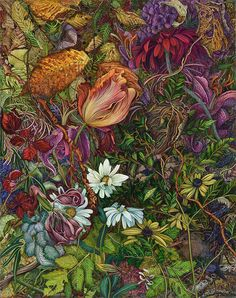 Highly detailed and richly colored paintings of gardens by Canadian artist Judy Garfin. Her experiences traveling the world have inspired her work which she ...