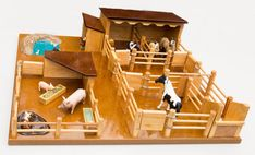 - Farmyard with Pig Pen, Stable and Yards, Duck Pond, Dog Kennel & Chicken Coup - Handmade Wooden Toys And Trucks Schleich Horses Stable, Chicken For Dogs, Farm Chicken, Wooden Dog Kennels, Toys Australia, Dog Kennel Cover, Chicken Coup, Wooden Truck, Pig Pen