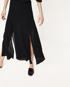Image 4 of LONG FLOWING SKIRT from Zara