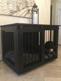 Large Single Dog Crate Black