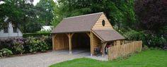 Landelijke houten carports & garages | Eikenhouten bijgebouwen van Russell Woods