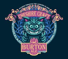Cheshire Craft is beverage label inspired by the Cheshire Cat of Alice in Wonderland. Anything with an evil grin I love and this was a way to do Cheshire in a inventive new way. @teefury