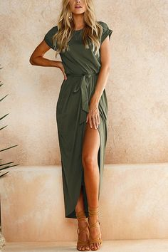 Army Green Short Sle