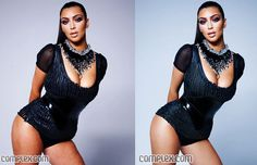 This image of Kim Kardashian is a demonstration of digital alteration of photographic images. Technology has advanced so immensely it has become easier to fake an image to stage an unrealistic image of beauty, like the image provided. Very few photo journalists use digital alteration of photographic images, instead they use directorial techniques to display something that is not. It is a more hidden technique rather than the obvious photoshop.