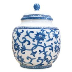 """Lauren By Ralph Lauren Mandarin Canister - Large : The Home Decorating Company  12.75"""" $49.99  On http://www.charcrews.com/ $45  Now one would think that if there was a large canister and a small canister that there should be a medium canister but I can't find it. :-("""
