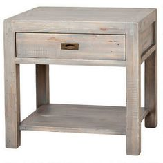 Post and Rail End Table - Silvermoon