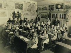 Dutch elementary class, 1934. #greetingsfromnl