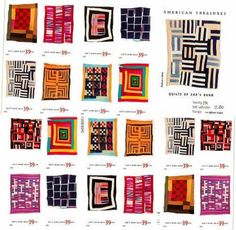 Well, this week we were going to attempt some blocks to use up scraps from this quilt but -we got sidetracked looking at our final quilt con. Primitive Quilts, Antique Quilts, Patch Quilt, Quilt Blocks, Quilting Projects, Quilting Designs, Quilting Ideas, Gees Bend Quilts, Commemorative Stamps