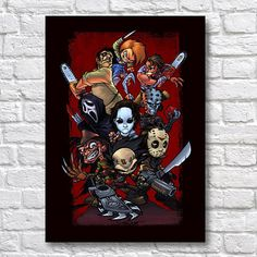 Classic Horror Poster - Nightmare on Elm Street Posters - Friday the 13th Art - Texas Chainsaw Massacre Print - Chucky Wall Art Prints Our wall art posters and prints are made using the highest quality materials, using tried and tested paper and ink in the highest quality printer on the market. FRAME NOT INCLUDED QUALITY AND DETAILS Paper: All posters are printed on highest quality Photo Lustre 260gsm paper. Its instant dry, fade resistant micro-porous coated heavyweight RC paper #horror