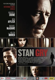 I ghost wrote 'State of Play' for Ben Affleck, Russell Crowe, Rachel McAdams and Helen Mirren. I went to high school with Helen Mirren's son in Top Movies, Movies To Watch, Movies And Tv Shows, Rachel Mcadams, Streaming Vf, Streaming Movies, Tv Series Online, Movies Online, Stephen Collins