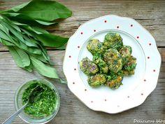 Delicious blog: Tvarohové gnocchi s pestem z medvědího česneku