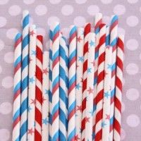 Yankee Doodle Dandy Straw Mix - Perfect for the 4th of July!