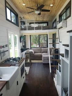 Two Waterfront Tiny Homes on Lake Travis Vacation Tiny House Plans Tiny House Living Room Homes House Lake Plans Tiny Travis Vacation Waterfront Tyni House, Tiny House Loft, Small Tiny House, Best Tiny House, Modern Tiny House, Tiny House Living, Tiny House Design, Small House Plans, Small Living
