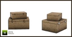 Angela's French Style Wicker boxes