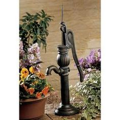 Classic Garden Decor – XoticBrands Home Decor Garden Fountains, Garden Statues, Lawn And Garden, Garden Art, Old Water Pumps, Outdoor Statues, Classic Garden, Fairy Garden Houses, Unique Gardens