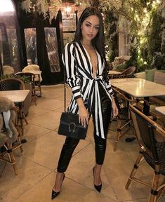 dressy outfits for winter Mode Outfits, Night Outfits, Chic Outfits, Fall Outfits, Summer Outfits, Dressy Outfits, Striped Outfits, Vegas Outfits, High Fashion Outfits
