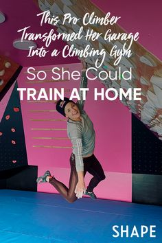 This Pro Climber Transformed Her Garage Into a Climbing Gym So She Could Train At Home Trx Training, Endurance Training, You Fitness, Physical Fitness, Rock Climbing Gym, Intense Cardio Workout, Diy Home Gym, Social Aspects, Shoulder Muscles
