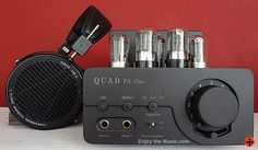 Quad Pa-One Headphone Amplifier With Audeze LCD-X Planar Magnetic Headphones