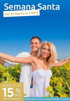 ¡¡Anticipate y aprovéchate de lo mejores precios!!  Hasta el 27 de Febrero 15% de descuento en paquete.     www.1000tentaciones.com