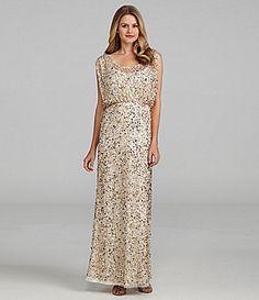 Aidan Mattox Sequin Gown #Dillards