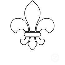 fleur de lis pattern use the printable outline for crafts creating