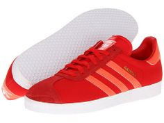 adidas Originals Gazelle Hi-Red Red/White/University Red - Zappos.com Free Shipping BOTH Ways