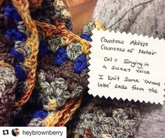I love this idea so much!  @heybrownberry  Squee! The #recycled cards that @rainb0wange used to wrap my #yarn minis have the yarn's info and history on them! It's like a prize at the end of each #color section. . . #MakeWIPsNotWaste #crochetstripeblanket #allthecolors #crochetgirlgang #slowfashion #slowliving #yarn #yarnspiration